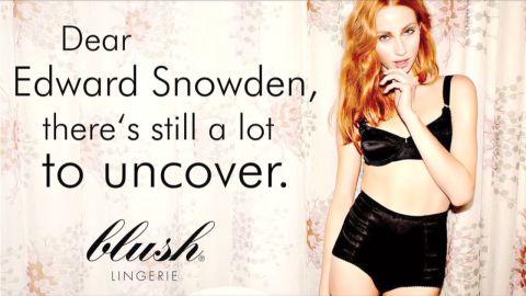 pkg pleitgen snowden celebrity lingerie ad_00002303.jpg