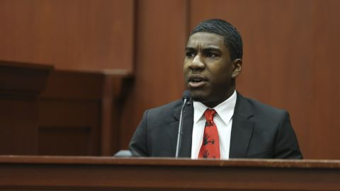 Martin's brother Jahvaris Fulton testifies at the Zimmerman trial in Seminole County circuit court on July 5.