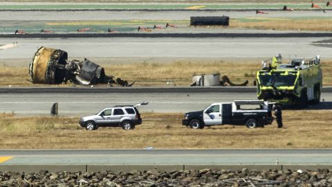 Wreckage from the Boeing 777 lies on the tarmac on July 6.