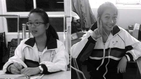 Newly-released images show Ye Mengyuan (left) and Wang Linqia -- both killed on Asiana Flight 214.