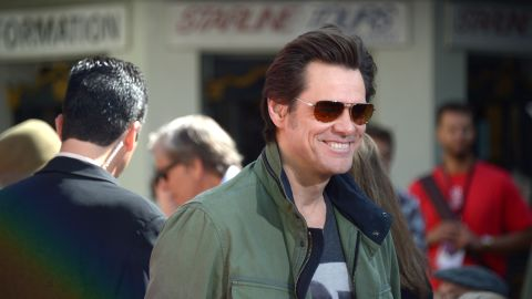 Comedian Jim Carrey got personal during a commencement speech in Iowa.