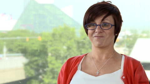 Michelle Knight speaks in the YouTube video.