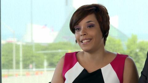 Gina DeJesus speaks in the YouTube video.