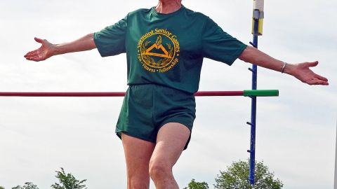 Meiler set the senior world indoor record for the pole vault in 2011. Her highest vault to date is 6 feet, 8 inches.