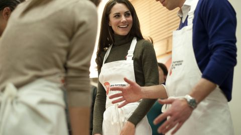"""As part of their charity work, the couple attended a """"healthy living cookery session"""" in London in December 2011."""