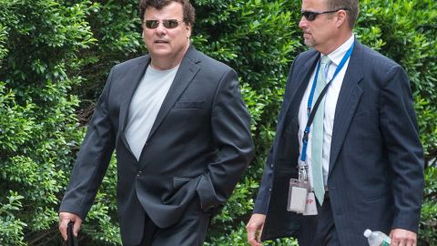 """Kevin Weeks leaves the courthouse in July 2013 after testifying in graphic detail about how Bulger killed Arthur """"Bucky"""" Barrett, Joey McIntyre and Deborah Hussey."""