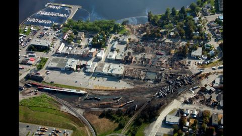 Following the disaster, thick fuel spilled into the nearby Chaudiere River.