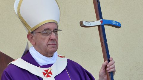 Pope Francis on a recent trip to Lampedusa island in Italy on July 8, 2013.