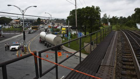 Access to much of Lac-Megantic is restricted, including the railway and downtown.