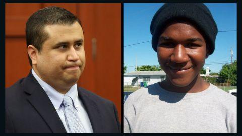 George Zimmerman, left, and Trayvon Martin