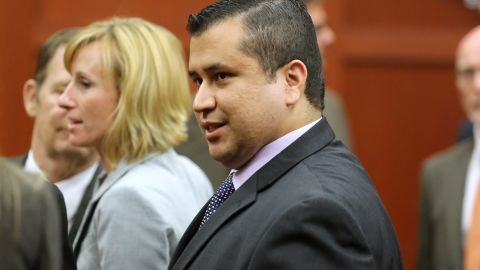George Zimmerman prepares to leave the courtroom after the not guilty verdict is read on July 13.
