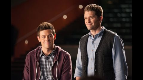 """Monteith and Matthew Morrison appear on """"Glee."""""""