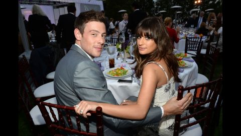 """Monteith and girlfriend/""""Glee"""" co-star Lea Michele attend the Chrysalis Butterfly Ball on June 8 in Los Angeles."""
