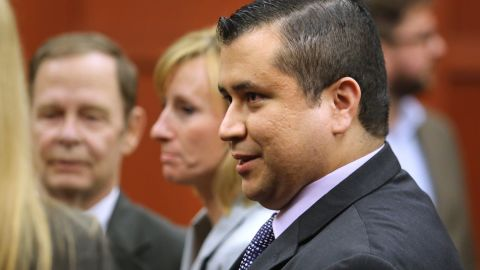 B583057987Z.1 SANFORD, FL - JULY 13: George Zimmerman leaves the courtroom a free man after being found not guilty, on the 25th day of his trial at the Seminole County Criminal Justice Center July 13, 2013 in Sanford, Florida. Zimmerman was charged with second-degree murder in the 2012 shooting death of Trayvon Martin. (Photo by Joe Burbank-Pool/Getty Images)