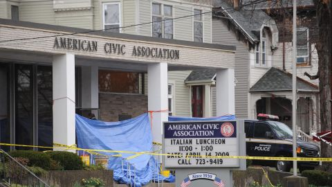 """Jiverly Wong shot and killed 13 people at the American Civic Association in Binghamton, New York, before turning the gun on himself in April 2009, police said. Four other people were injured at the <a href=""""http://www.cnn.com/2009/CRIME/04/08/ny.shooting/index.html?iref=allsearch"""" target=""""_blank"""">immigration center shooting.</a> Wong had been taking English classes at the center."""