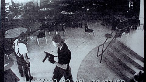"""Eric Harris, left, and Dylan Klebold brought guns and bombs to <a href=""""http://www.cnn.com/US/9904/20/school.shooting.03/index.html?iref=allsearch"""" target=""""_blank"""">Columbine High School</a> in Littleton, Colorado, in April 1999. The students gunned down 13 and wounded 23 before killing themselves."""