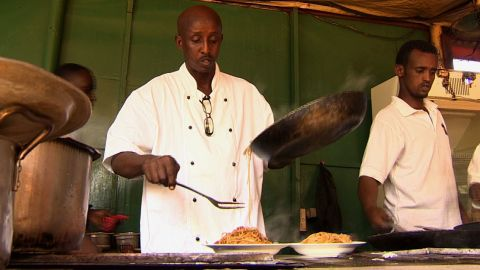 """Somali chef Ahmed Jama is the owner of """"The Village,"""" a chain of five restaurants across Mogadishu. He is part of a growing number of Somalis who, after years abroad, are now returning to be part of their country's renaissance."""