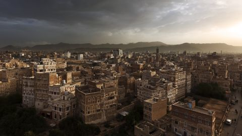 The ancient old city within the heart of Sana'a, the capital city of Yemen, is pictured in August 2010.