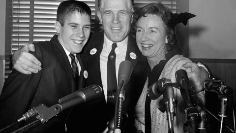 George W. Romney, with his son Mitt and his wife Lenore in 1962, announces his intention to run for governor of Michigan. The elder Romney went on to run for president in 1968, and his son Mitt served as governor of Massachusetts before winning the GOP nomination for president in 2012.