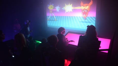 """Fans participate in Cartoon Network's """"Regular Show"""" Regular Zone at The New Children's Museum on July 18."""