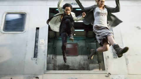"""An adaptation of Veronica Roth's bestselling first novel in her """"Divergent"""" trilogy landed in theaters in March 2014, starring Shailene Woodley, right, as protagonist Tris Prior and Zoe Kravitz as Christina. The sequel """"Insurgent"""" arrived in 2015, and """"Allegiant"""" will be released in 2016."""