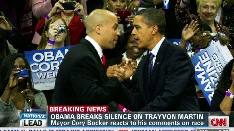 Lead Cory Booker react to Obama Trayvon Martin_00021820.jpg