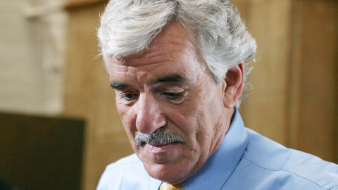 """Actor <a href=""""https://www.cnn.com/2013/01/19/world/gallery/people-we-lost/www.cnn.com/2013/07/22/showbiz/dennis-farina-obituary/index.html"""">Dennis Farina</a>, a Chicago ex-cop whose tough-as-nails persona enlivened roles on either side of the law, died Monday, July 22. He was 69. Above, Farina shoots a scene as Detective Joe Fontana in """"Law & Order"""" in 2004."""