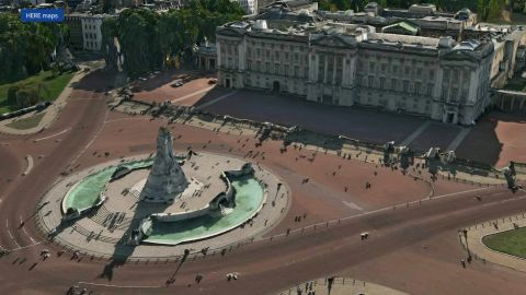 3D rendering of Buckingham Palace in London