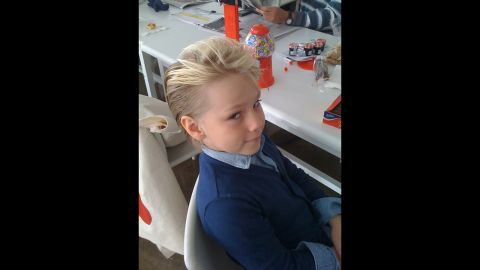 """Jodi Nelson Call, who runs the """"Pistols and Popcorn"""" blog sent this photo of her son, Roan, a fashion model."""