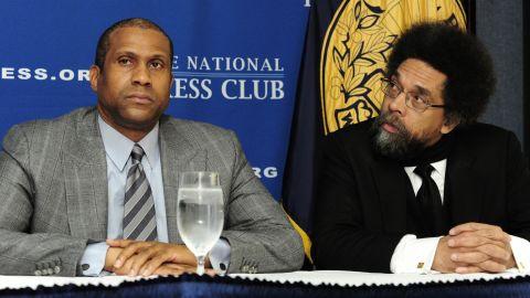 Tavis Smiley, left, and Cornel West.