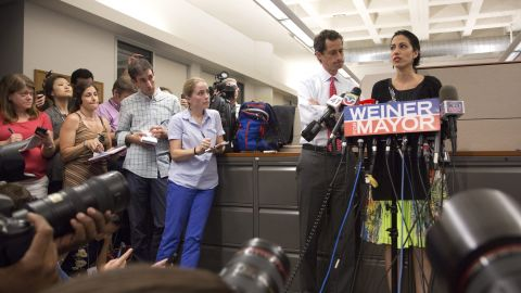 """The press conference was held after chat messages purporting to be from Weiner were published on the website TheDirty.com. The post cited a """"solid"""" source alleging Weiner engaged in lewd online conversations with her, and the site reproduced lengthy chats that were sexual in nature."""