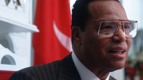 Louis Farrakhan answers questions posed by interviewer Daphne Barak September 15, 1997, in Chicago, IL. The controversial Farrakhan founded the reorganized Nation of Islam, which adheres to the teachings of Elijah Muhammad. (Photo by Jean-Marc Giboux/Liaison)