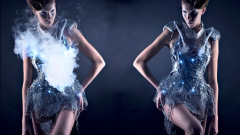 """Don't like strangers approaching you? Then the Smoke Dress is a must-have. Designed by <a href=""""http://www.anoukwipprecht.nl/"""" target=""""_blank"""" target=""""_blank"""">Anouk Wipprecht</a>, the dress can suddenly visually obliterate itself through the emission of a cloud of smoke. Ambient clouds of smoke are created when the dress detects a visitor approaching, thus camouflaging itself within it's own materiality. Perfect if you are a fashionable socialite AND a misanthrope."""