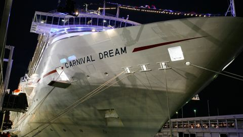 """<a href=""""http://www.cnn.com/2013/03/14/world/americas/cruise-ship-trouble/index.html"""">The Carnival Dream</a>, shown here at its North American debut in November 2009, lost power in March 2013, and some of its toilets stopped working temporarily. For a time, no one was allowed to get off the vessel, docked at Philipsburg, St. Maarten, in the eastern Caribbean."""