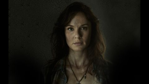 Lori Grimes (Sarah Wayne Callies) died during childbirth. Her son, Carl, apparently shot her (heard but not seen on camera) to prevent her from becoming a walker.
