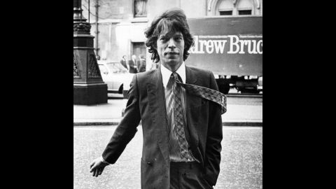 Jagger arrives at a London court in 1979 to go over his divorce settlement with Bianca. They were married for nine years.
