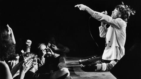 Jagger performs in 1980 at the Fox Theatre in Atlanta.