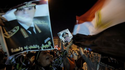 Morsy opponents rally in Cairo on July 26.