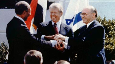 Every president in the past 50 years has tried to broker peace in the Middle East, including when President Jimmy Carter ushered the historic Israeli-Egyptian peace treaty between Egyptian President Anwar Sadat and Israeli Prime Minister Menachem Begin on March 26, 1979. Here's a look at other recent attempts for peace: