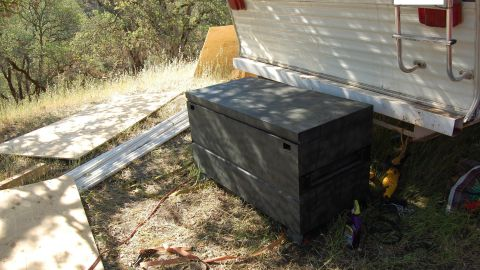"""What began as an investigation into a suspected marijuana-growing farm in Northern California has led to allegations of a 15-year-old girl being held captive in a coffinlike metal box and sexually abused. Authorities said the girl sometimes was held in a metal toolbox 4 feet long, 2 feet wide and 2 feet high at the farm, where she worked trimming marijuana plants, in Lake County, north of San Francisco. She told authorities that two men """"put her in the box to 'teach' her because they had a 'point to prove,' """" according to a criminal complaint."""