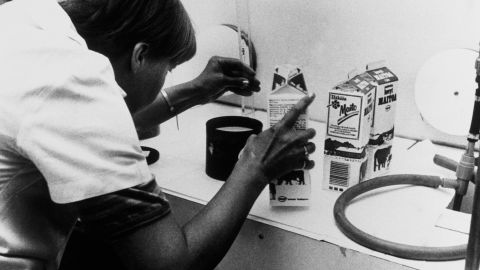 In Finland, milk is tested by authorities for aftereffects of the radiation on April 30, 1986.
