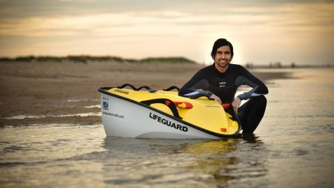 Is it a Jet Ski? Is it a surfboard? No, it's a one-man watercraft powered solely by the sun.