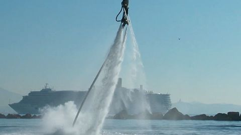 A similar concept but for leisure, Flyboarding allows you to soar through the skies like you're Iron Man. The device channels the water through a long hose that in turn connects to a pair of jet boots.