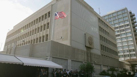 Like that of most countries, the U.S. Embassy in Israel is located in Tel Aviv.