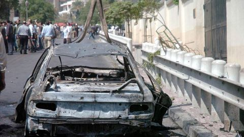 """A car exploded near the <a href=""""http://www.cnn.com/2006/WORLD/meast/09/12/syria.embassy/index.html"""">U.S. Embassy in Damascus, Syria,</a> on September 12, 2006. Fourteen people were wounded. Syrian authorities killed three attackers and apprehended a suspect outside the building."""