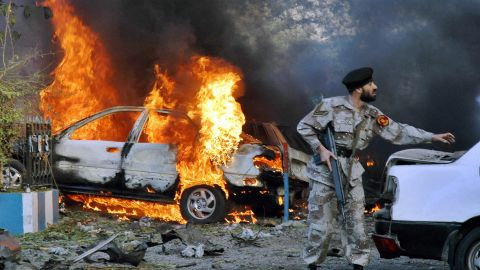"""A U.S. diplomat and his driver were among at least four people killed on March 2, 2006, in an apparent suicide attack outside the <a href=""""http://www.cnn.com/2006/WORLD/asiapcf/03/01/karachi.blast/index.html"""">U.S. Consulate in Karachi, Pakistan</a>."""