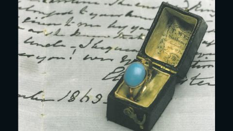 A ring that once belonged to 19th century English author Jane Austen.