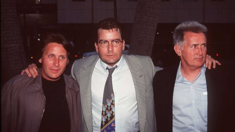 """There's no question that stage and screen star Martin Sheen, right, has seen his sons become just as famous as himself. Older son Emilio Estevez, left, chose to use his father's birth name, following dad into acting in the early '80s. He was soon an established member of the """"Brat Pack"""" with roles in 1983's """"The Outsiders"""" and 1985's """"The Breakfast Club."""" Emilio's brother Charlie (born Carlos Estevez) wasn't far behind, carving out roles in '80s films """"Wall Street"""" and """"Major League"""" before moving on to TV success with """"Two and a Half Men."""""""