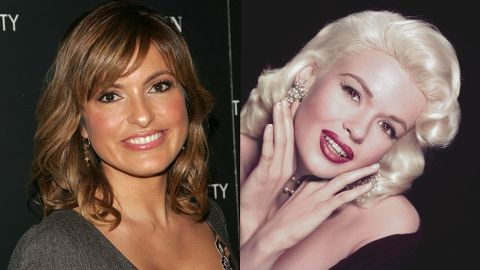 """Mariska Hargitay is the daughter of '50s sex symbol Jayne Mansfield, but she took a different path to stardom. While her mother was famous for her blond hair, curves and wardrobe malfunctions, Hargitay opted to be brunette and shy away from nude scenes. Eventually, she landed the starring role of Detective Olivia Benson on """"Law & Order: Special Victims Unit,"""" winning Emmy and Golden Globe awards for her work."""