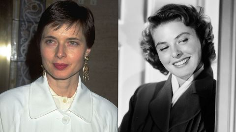 """Isabella Rossellini, daughter of the three-time Oscar winner Ingrid Bergman and Italian director Roberto Rossellini, has made a career for herself in film and fashion. Isabella got her start in acting in her mom's 1976 film, """"A Matter of Time,"""" and by the mid-'80s was appearing in movies such as """"White Nights"""" and """"Blue Velvet."""" These days, she's watching daughter Elettra Wiedemann rise in the modeling industry."""